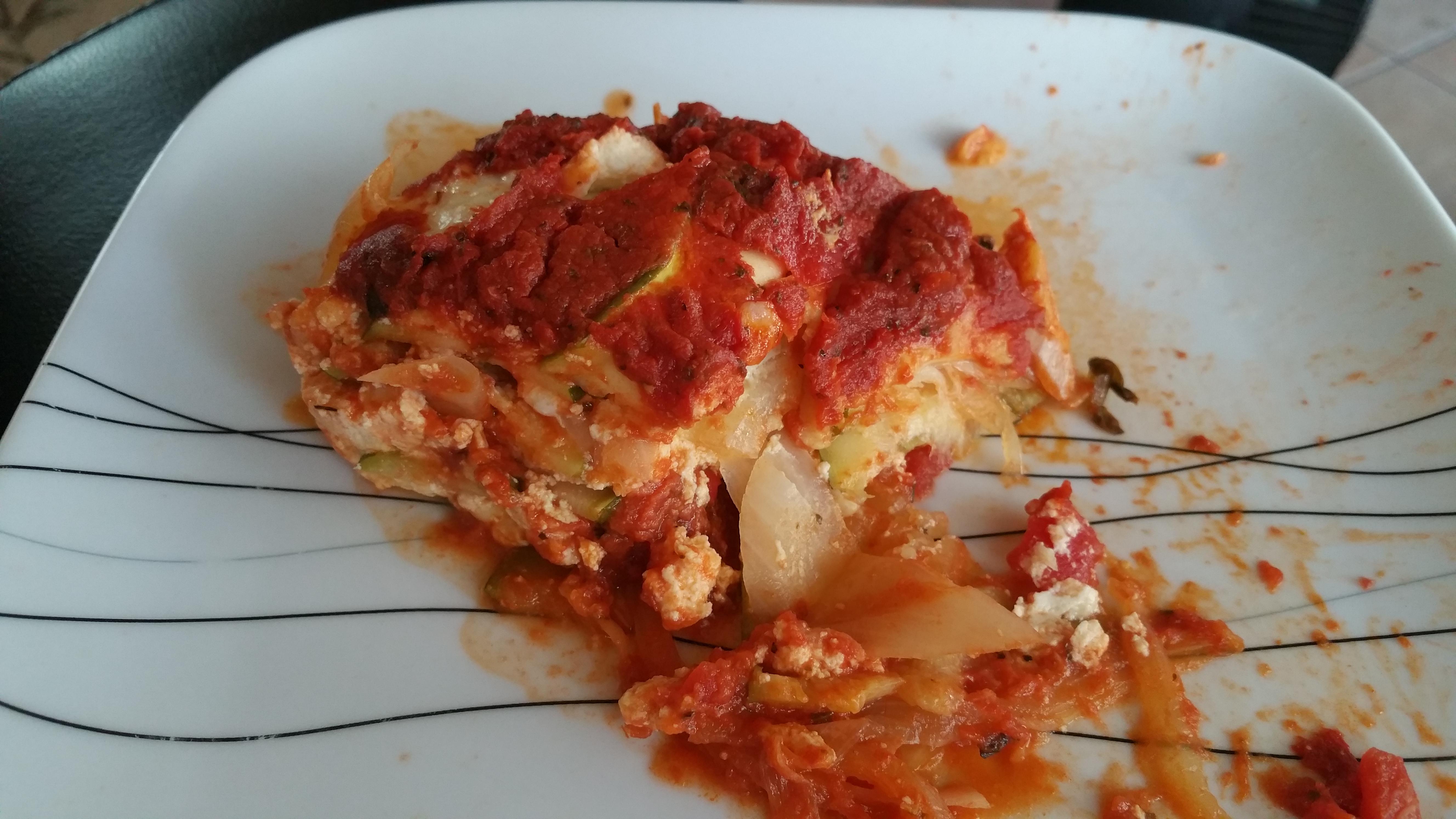 lasagna calories homemade